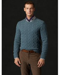 Ralph Lauren Purple Label Cable-knit Cashmere Sweater - Lyst