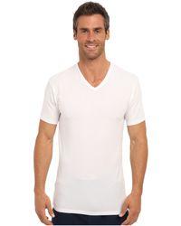 Calvin Klein Cotton Stretch Ss Vneck 2pack - Lyst
