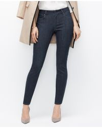 Ann Taylor Curvy Skinny Ankle Jeans - Lyst