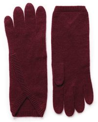 Armand Diradourian Cashmere Gloves - Red