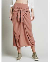 Free People Womens Stella Slouchy Skirt pink - Lyst