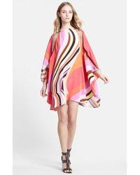 Emilio Pucci Onyx Print Silk Caftan Dress red - Lyst