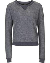 Topshop | Washed Brushed Sweatshirt | Lyst