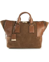 Burberry Large Signature Grain Tote - Lyst