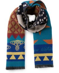 Vivienne Westwood Woven Scarf - Lyst