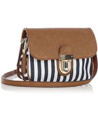 Oasis Tucklock Stripe Bag - Blue
