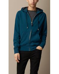 Burberry Cotton Jersey Hooded Top - Lyst