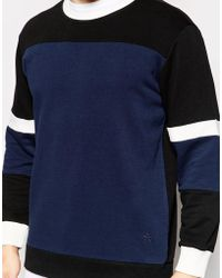 Antioch Sweatshirt With Panelling - Blue