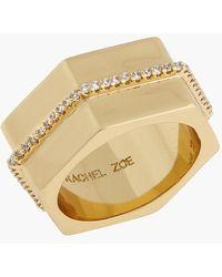 Rachel Zoe Women'S 'Gavriel' Hexagon Ring - Gold - Lyst