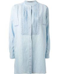 Ermanno Scervino Embroidered Bib Long Shirt - Lyst