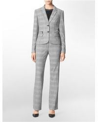 Calvin Klein Two-button Plaid Suit Jacket - Lyst