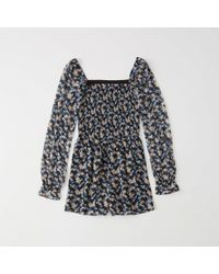 Abercrombie & Fitch - Smocked Romper - Lyst