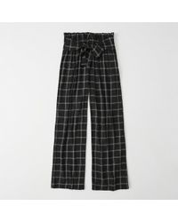 Abercrombie & Fitch - Paperbag Waist Wide-leg Pants - Lyst
