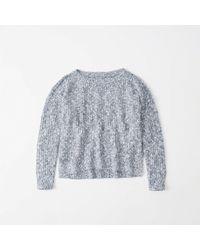 Abercrombie & Fitch - Shaker Stitch Sweater - Lyst