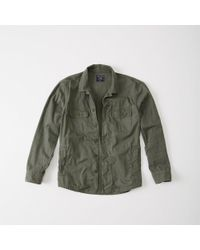 Abercrombie & Fitch - Military Shirt Jacket - Lyst