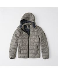 Abercrombie & Fitch - The A&f Removable Hood Packable Puffer - Lyst