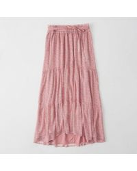 Abercrombie & Fitch - Tiered Chiffon Maxi Skirt - Lyst