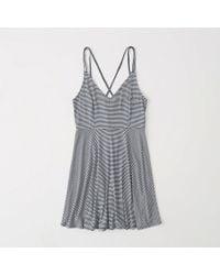 Abercrombie & Fitch - Strappy Knit Skater Dress - Lyst