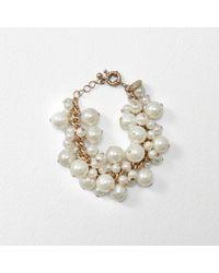 Abercrombie & Fitch - Faux Pearl Cluster Bracelet - Lyst