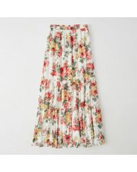 Abercrombie & Fitch - Tiered Maxi Skirt - Lyst