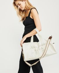 Abercrombie & Fitch - Logo Duffle Bag - Lyst