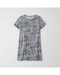 Abercrombie & Fitch - Pocket T-shirt Dress - Lyst