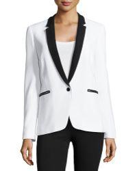 Michael Kors One-button Tuxedo Jacket - Lyst