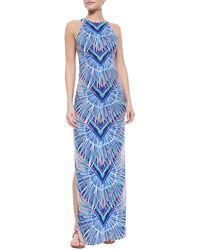 Mara Hoffman Feather-Print Maxi Dress - Lyst