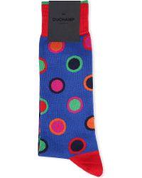 Duchamp Polka Dot Circle Cotton Socks - Lyst