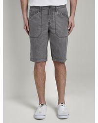 Tom Tailor Shorts - Grau