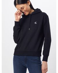 Calvin Klein Sweatshirt 'CK EMBROIDERY HOODIE' - Schwarz
