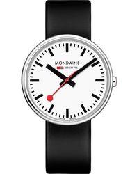 Mondaine Unisex-Uhren Analog Quarz ' ' - Schwarz