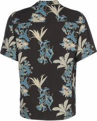 Carhartt WIP Kurzarmhemd ' Hawaiian Floral ' - Schwarz