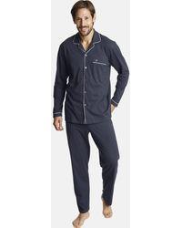 Jan Vanderstorm Schlafanzug 'Turon' - Blau