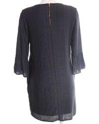 Tom Tailor Denim A-Linien Kleid - Blau