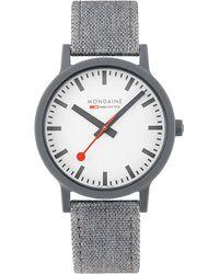 Mondaine Herren-Uhren Analog Quarz ' ' - Grau