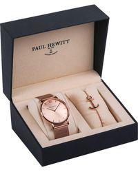 PAUL HEWITT Quarzuhr Perfect Match, PH-PM-1 (Set, 2 tlg., mit Armband) - Mehrfarbig