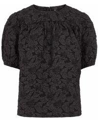 Y.A.S Shirt 'COVA' - Schwarz