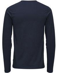 Jack & Jones Langarmshirt - Blau