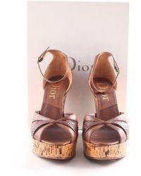 Dior Wedges Sandaletten - Braun