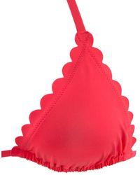 Lascana Bikini-Top 'Scallop' - Rot