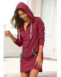 S.oliver Bodywear Sweatkleid - Rot