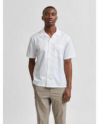 SELECTED Hemd 'Cuba' - Weiß