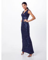 Lipsy Kleid 'WS NVY AO SQN MAXI' - Blau