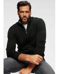 Man's World Man's World Strickjacke aus Baumwollmischung - Schwarz