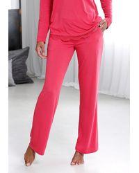 Lascana Pyjamahose - Pink