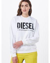 DIESEL Sweatshirt 'F-ANG' - Weiß