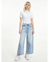 Tommy Hilfiger Meg knöchellange Jeans mit ultra hohem Bund - Blau