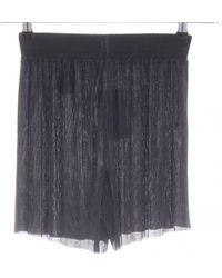 H&M High-Waist-Shorts - Blau