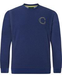 Charles Colby Sweatshirt ' earl' - Blau
